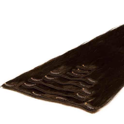 Clip in Vlasy 50cm 70g Mochachino Hnedá 1C-0