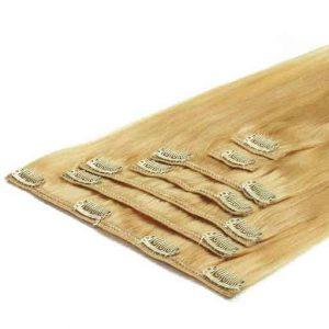Clip in Vlasy 50cm 70g Nejsvetlejší Blond 613-0