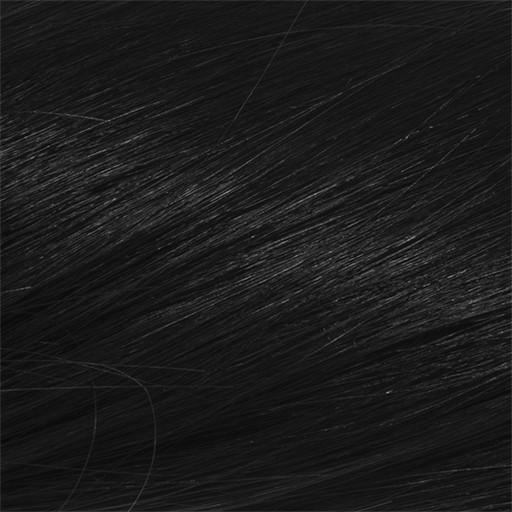 Deluxe Clip in Vlasy 50cm 200g Cerná Jako Uhel 01-2304