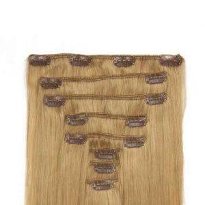 Clip in Vlasy 60cm 160g Popelave Blond 16-0