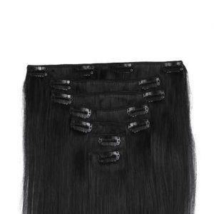 Clip in Vlasy 60cm 160g Prirozená Cerná 1B-0
