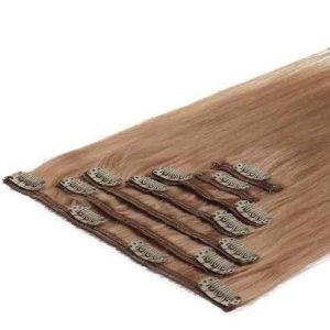 Clip in Vlasy 50cm 70g Jahodovo Blond 27-0