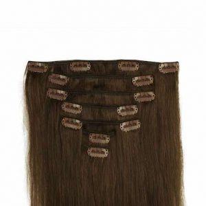 Clip in Vlasy 60cm 160g Cokoládove Hnedá 04-0